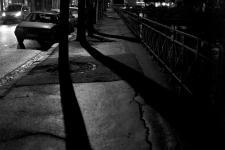 photo noir et blanc du boulevard Kerguelen à quimper