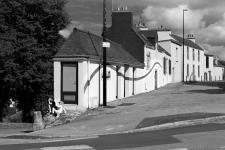 photo noir et blanc de la Place Mez Gloaguen  à quimper