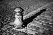 photo noir et blanc de la rue verdelet à quimper