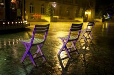 photo couleur de la place saint corentin à quimper
