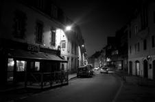 photo noir et blanc de la rue jean jaures à quimper