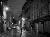 photo noir et blanc de la rue du Frout à Quimper