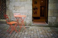 photo couleur de la rue du salé à quimper